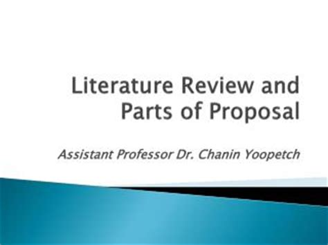 The elements of a research proposal